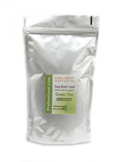 Mořská sůl do koupele -1kg- zelený čaj