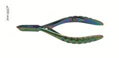 Lexwo kleště na kůži 10cm, 3mm - typ 135-3, multibarevné